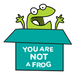 You are not a frog Logo